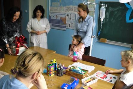 Świąteczna wizyta w szpitalu